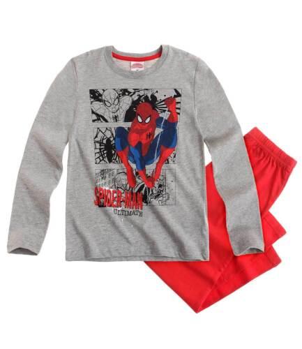 Jungen-Schlafanzug Fb Grau//Rot Spiderman