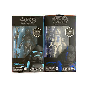 Star Wars Black Series Lot- Shadow Trooper & Stormtrooper Commander GameStop NEW