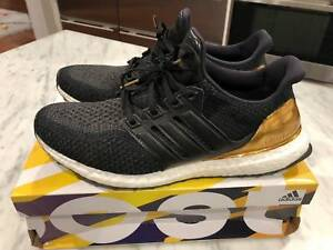 ec43f4c8d Adidas Ultra Boost LTD Olympic Medal Black Gold BB3929 Mens Size 11 ...