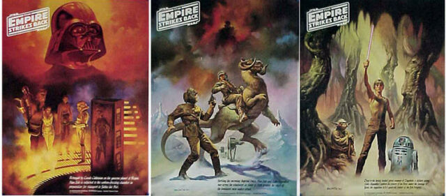Original Vintage Set of 3 Star Wars Empire Strikes Back ESB Boris Promo Posters