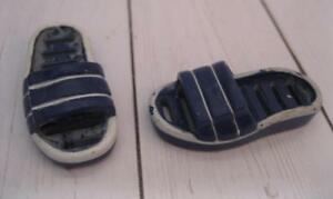 ea7affcc97b99 Details about Barbie KEN FASHIONISTA Doll BEACH SUMMER SANDAL  SHOES-Blue/white SLIP ON SLIDES