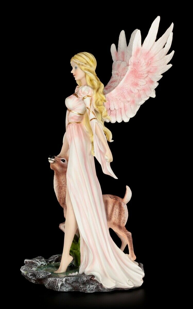 Angel Figure large - Guardian Guardian Guardian of the Forest animals - Fantasy Decorative Statue 5ff7d4