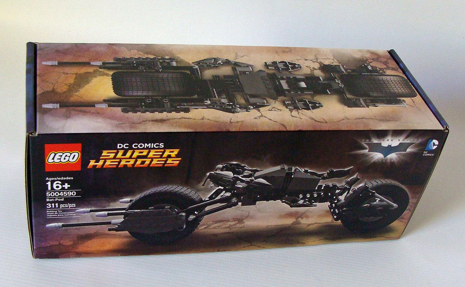 LEGO ® SUPER HEROES 5004590-BAT-POD 311 parti 16-NUOVO