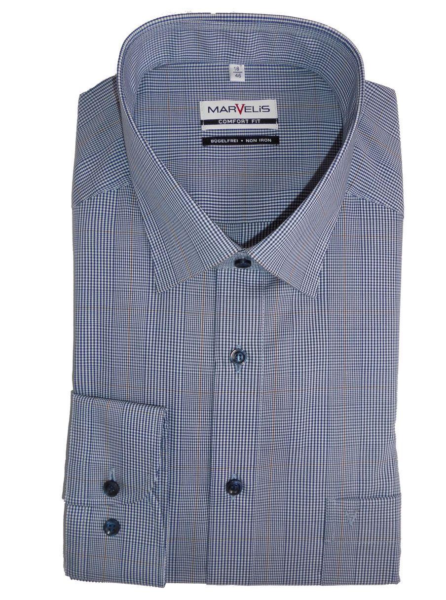 Marvelis Hemd Comfort Fit blau blau blau kariert Art. 7023.24.18 | Exzellente Verarbeitung  | Glücklicher Startpunkt  | Zuverlässiger Ruf  7a3e81