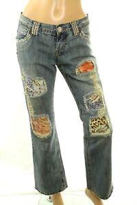 Vieilli Milano D Claudio Femmes Cristal Patch Jeans qUvw8wFt