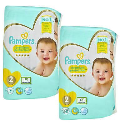 2x 41 = 82 Stück Pampers Premium Protection Größe 2 Mini 4-8kg Windeln new baby