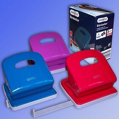 mit Anschlagschiene blau Metall MAS 405 Locher rostabweisend 10 Blatt