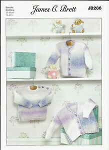 8594a6ec090a JAMES C BRETT JB286 BABY VERY EASY CARDIGAN AND SWEATER DOUBLE ...