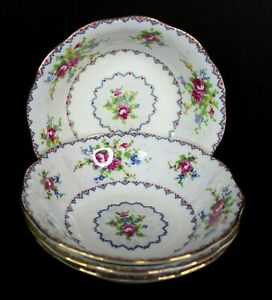Vintage-Royal-Albert-Petit-Point-5-5-Inch-Dessert-Fruit-Bowls-Set-of-4-778676