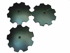 18 Notched Disc Harrow Blades Scalloped Heavy Duty 1 Or 1 18 Sq Lot Of 3