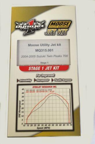 Moose Utility Jet Kit Suzuki 2004-2005 700 Twin Peaks Stage 1 NEW MQ315