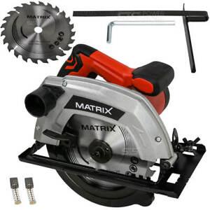 Handkreissäge Kreissäge Matrix CS 1400-185-1 Säge 65 mm 1400 Watt HM Sägeblatt