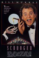 Scrooged (1988) Original Movie Poster - Rolled
