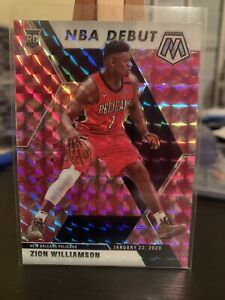 2019-2020-MOSAIC-RC-ZION-WILLIAMSON-269-NBA-DEBUT-PINK-CAMO-PRIZM