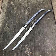 "2 Pc Lot 9"" Old Style Spanish Toothpick Folding Pocket Knife Black Wood Handles"