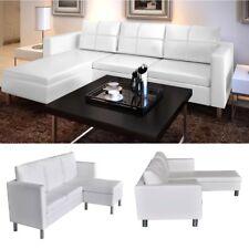 Buy Vig Furniture T117 Modern White Leather Sectional Sofa Online Ebay