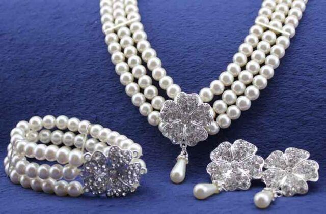 Weddings Bridal Jewellery White