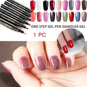 227288c85c One Step Gel Lacquer Nail Painting Varnish Pen 3 In1Colors Nail Gel ...