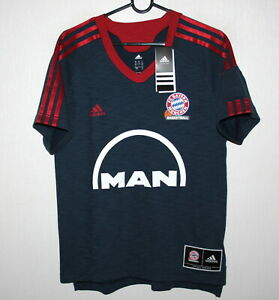 really comfortable classic new york Details about FC Bayern Munich basketball Germany training shirt Adidas  Size S