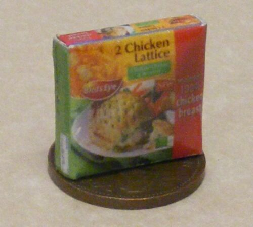 1:12 Scale Empty Frozen Chicken Lattice Packet Tumdee Dolls House Kitchen Food