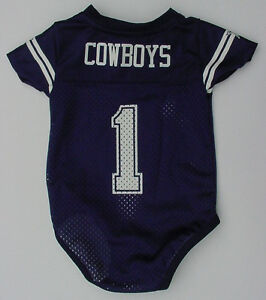 lowest price 0b76a 8e97d Details about NWT DALLAS COWBOYS #1 Baby Jersey Onepiece Creeper Newborn  Infant Sz 3 6 9 12 Mo