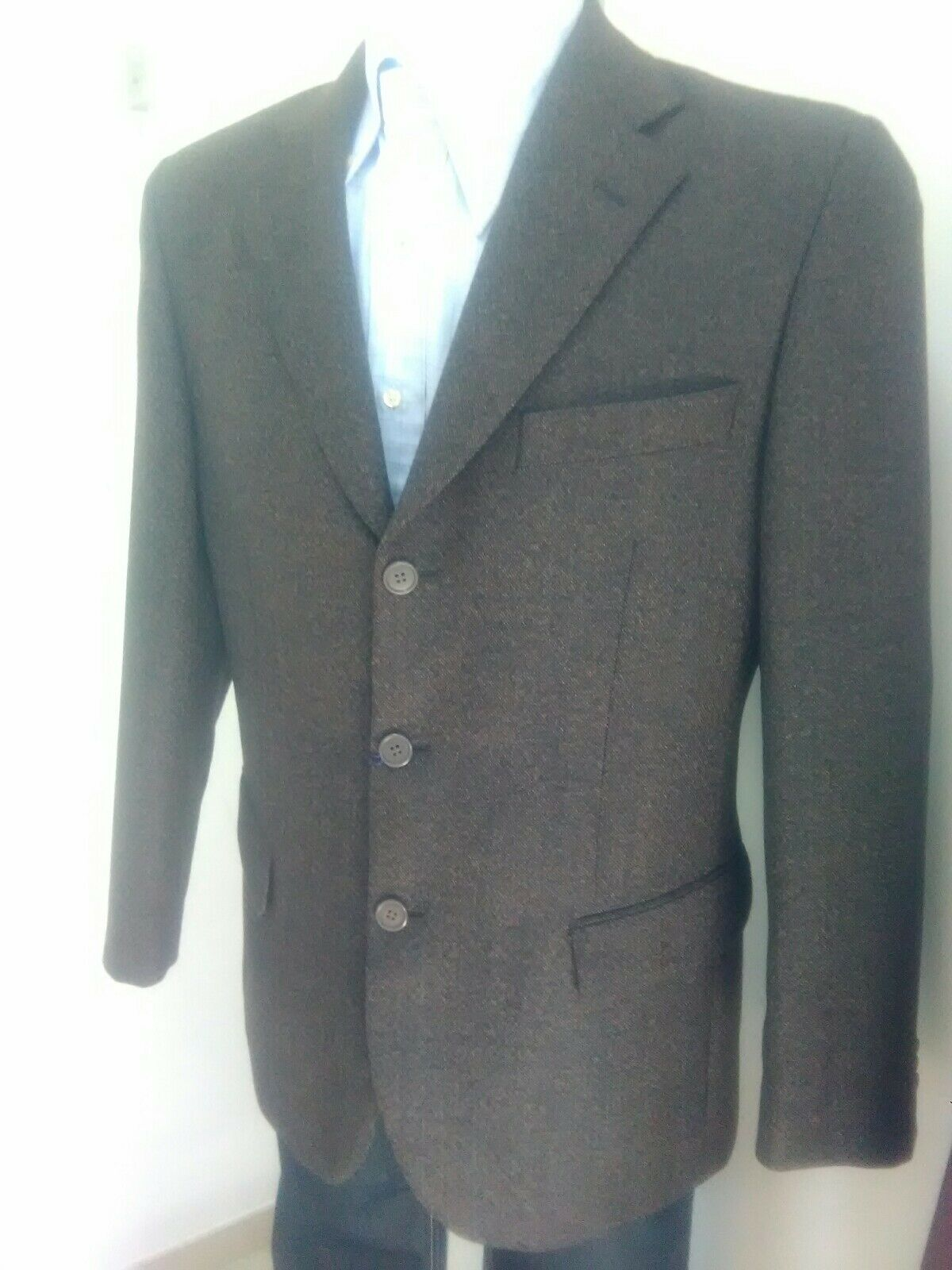 GIACCA UOMO INVERNALE MARRONE 100%WOOL TOM BEST TG 50