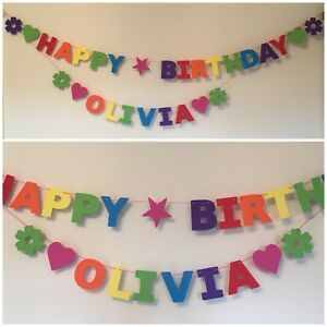 BOYS PERSONALISED 6th BIRTHDAY BANNER MULTI COLOUR PARTY BUNTING Single Name