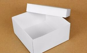 Details About Large White 20cm X 20cm X 10cm Box With The Lid Gifts Retail Toys