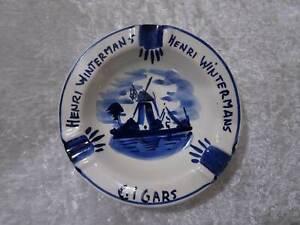 H-Wintermans-Cigars-Cigar-Ceramic-Ashtray-Holland-Wind-Mill-Advertisement