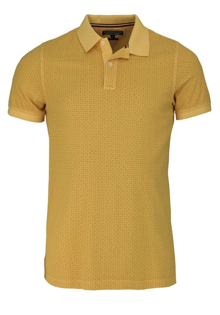 TOMMY TOMMY TOMMY HILFIGER manches courtes Polo geknöpfter col motif jaune-Taille XL-Messieurs a671ee