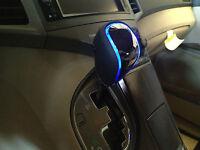 Toyota Venza 2009-2016 Led Gear Shift Knob Black Chrome Blue Light Automatic