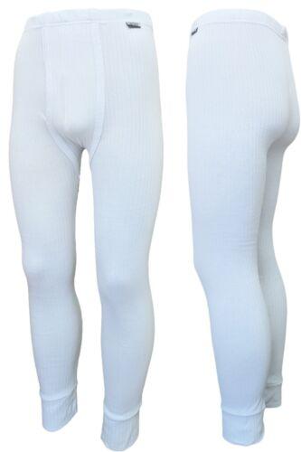 2x Herren Thermo Unterhose in weiß warme Schlafhose mit Eingriff 90/% Baumwolle