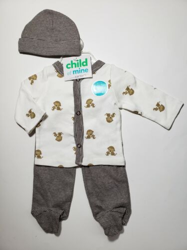 BABY BOY/'S 3-PC LS OUTFIT SET 3-6M *NWT- CARTER/'S SIZES: NB