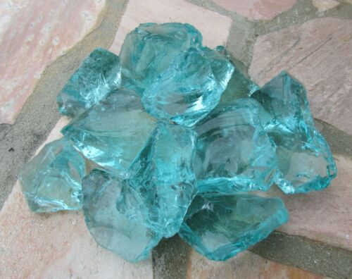 "Seedeco® Glassteine Glasblocks 20kg /""Made in Germany/"" Farbe Türkis  604-26"