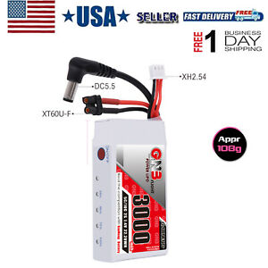 3000mAh-2S-LiPo-Battery-for-Fat-Shark-Glasses-HD-Goggles-Hobby-FPV-RC-Receiver