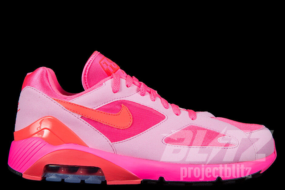 NIKE AIR MAX 180 CDG Sz 5.5-9 LASER PINK SOLAR RED PINK RISE AO4641 602