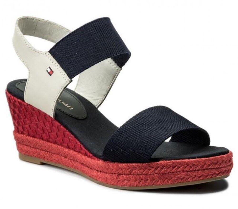 TOMMY HILFIGER scarpe sandali pelle donna aperti  casual tessuto   aperti c50190