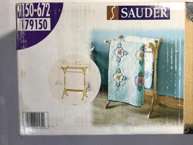 76 72-90 Inch Compression Type Quilt Rack Tapestry Rug Hanger Oak