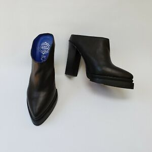 Jeffrey-Campbell-Ibiza-Last-Shoes-Heels-Black-Clogs-Handmade-Womens-Size-8