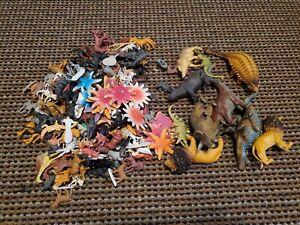 Animal-Toy-Figure-Lot-180-Safari-Zoo-Farm-Forest-Jungle-Cats-Dogs-Dinosaur