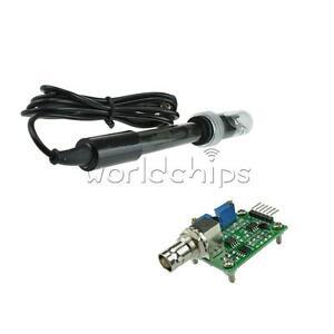 PH-elettrodo-sonda-BNC-LIQUIDO-PH0-14-valore-rilevare-Sensore-Modulo-Per-Arduino