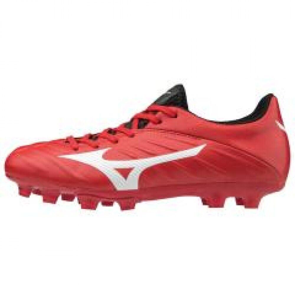 Zapatos de fútbol de Mizuno Spike Rebula 2 V3 Junior Modelo P1GB1875 Negro blancoo Rojo × ×