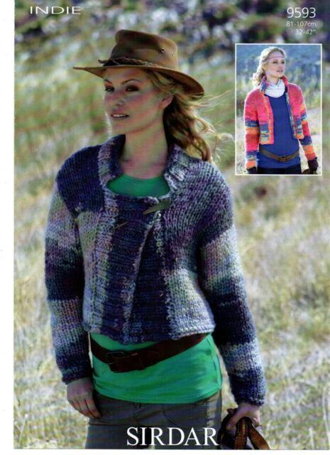 9455 Jackets Sirdar Womens Knitting Pattern