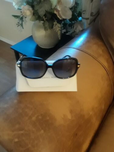 3779498a5d1 Michael Kors Adrianna II MK2024 316011 Black gold Sunglasses 57mm 16 135  for sale online