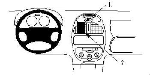 Brodit ProClip 852673 montage Console pour PEUGEOT 206 année modèle 1999-2008