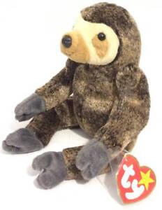 14b5d834c80 TY Beanie Baby Slowpoke Sloth 1999 Retired Plush Toy Both Tags Flat ...