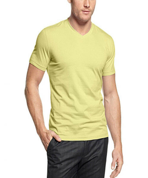 STRETCH SLIM FIT VNECK TEE T shirt basique yellow