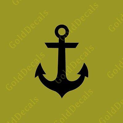 Anchor - Vinyl Decal Car Truck Mac Sticker Graphic Nautical Boat Art