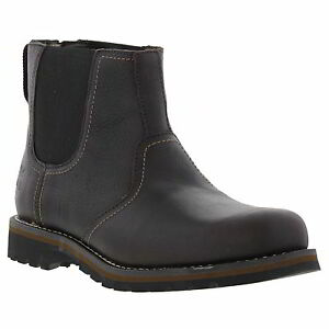 Timberland Larchmont Chelsea Mens 9706a Brown Leather Slip