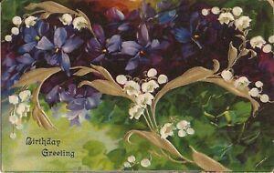 Birthday-Greetings-violets-amp-baby-breathsoat-GILDED-amp-EMBOSSED